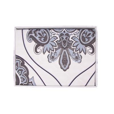 Lenjerie de pat policoton barok crem cu indigo - 200x230 cm2