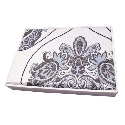 Lenjerie de pat policoton barok crem cu indigo - 200x230 cm1