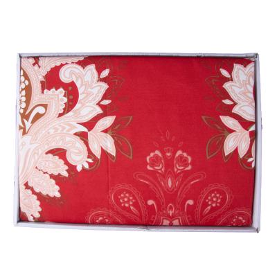 Lenjerie de pat policoton barok rosu - 200x230 cm2