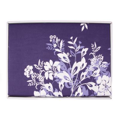 Lenjerie de pat policoton floral bluemarin - 200x230 cm1