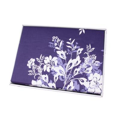 Lenjerie de pat policoton floral bluemarin - 200x230 cm2