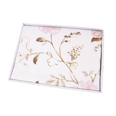 Lenjerie de pat policoton floral crem - 200x230 cm [1]