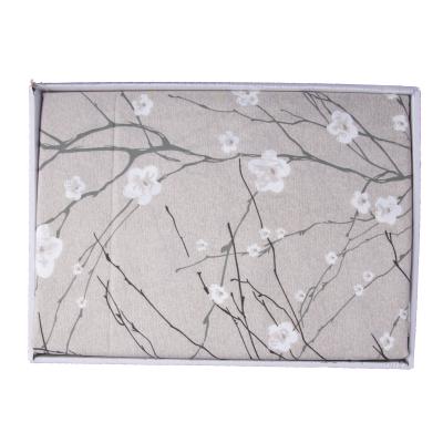 Lenjerie de pat policoton floral crem-verzui - 200x230 cm1