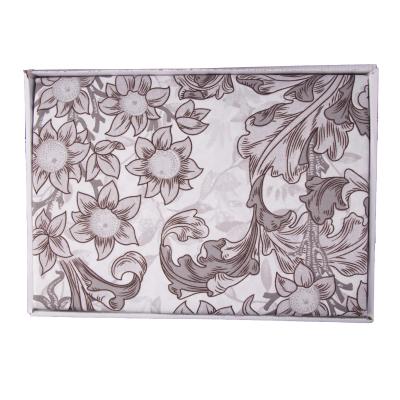 Lenjerie de pat policoton floral gri - 200x230 cm2