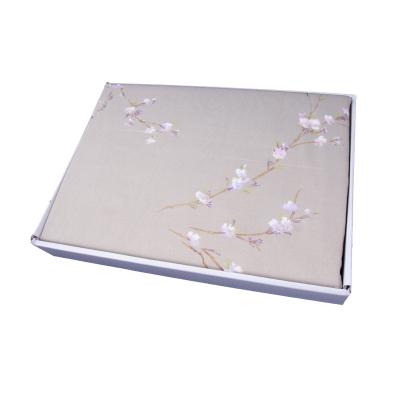 Lenjerie de pat policoton floral verde - 200x230 cm2