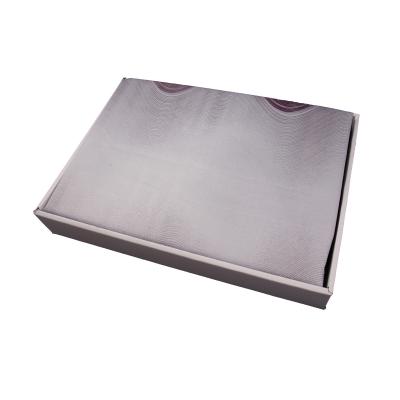 Lenjerie de pat policoton geometric mov cu gri - 200x230 cm1