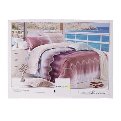 Lenjerie de pat policoton geometric mov cu gri - 200x230 cm0
