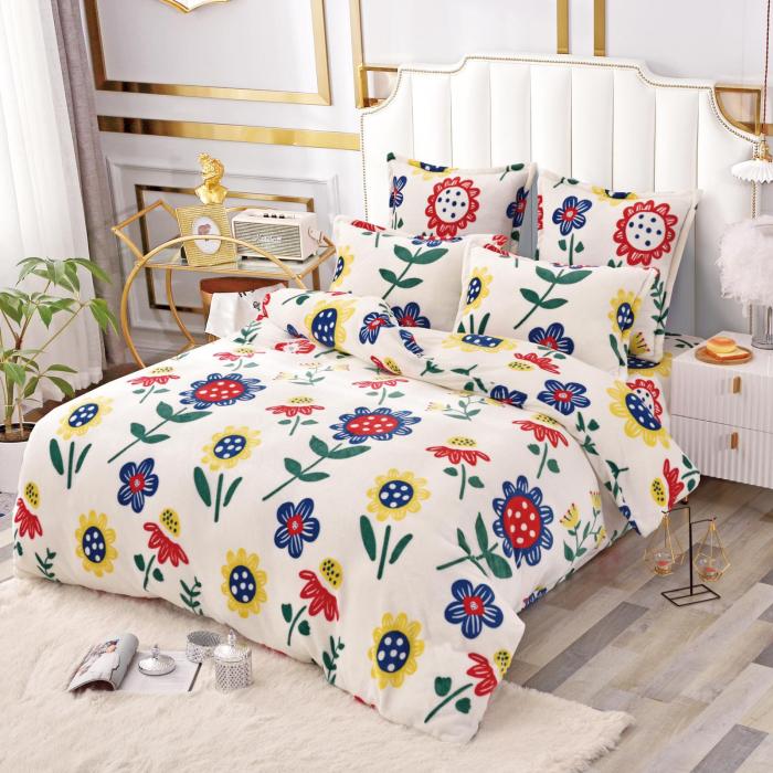 Lenjerie Cocolino 6 Piese Crem cu Flori 0