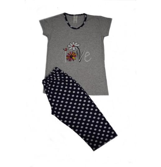 Pijama Dama Serena, cu Imprimeu Love 3