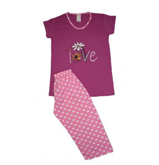 Pijama Dama Serena, cu Imprimeu Love 0