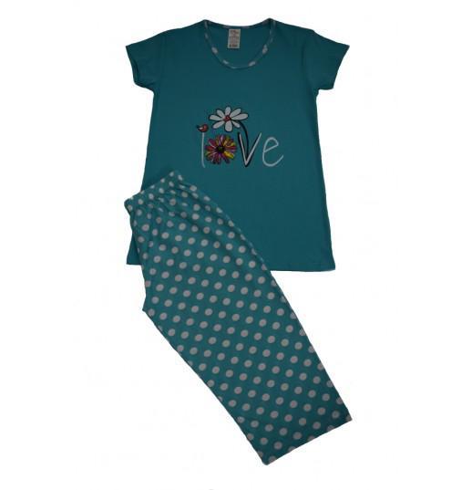 Pijama Dama Serena, cu Imprimeu Love 1