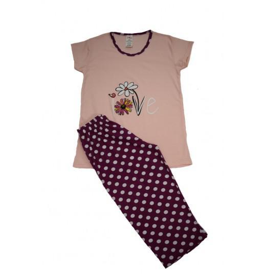 Pijama Dama Serena, cu Imprimeu Love 2
