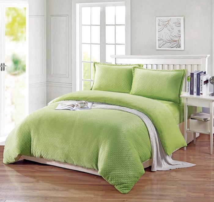 Lenjerie Cocolino Grofata 4 Piese Verde Deschis 0