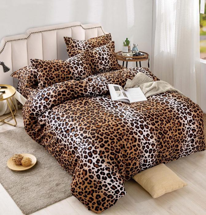 Lenjerie Finet 4 Piese 1 Persoana, Leopard [0]