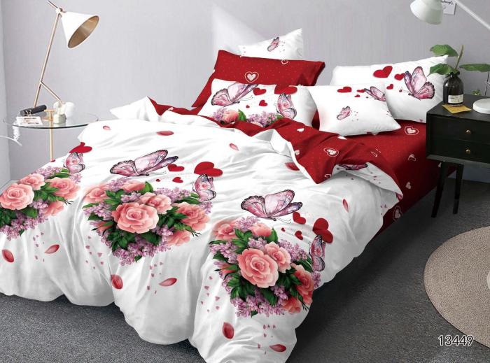 Lenjerie Finet 6 Piese, Alba cu Trandafiri/Inimi [0]