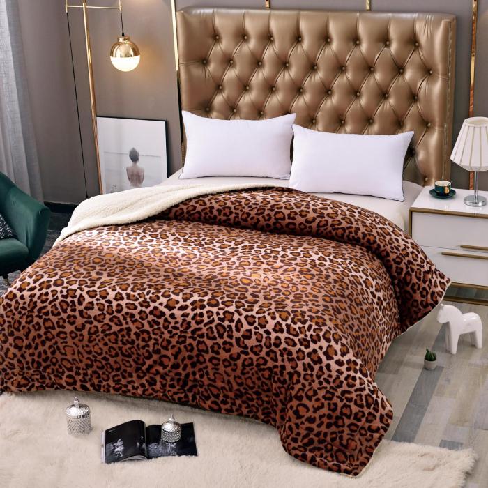 Pătura Cocolino cu Blanita Cu Model Leopard 0