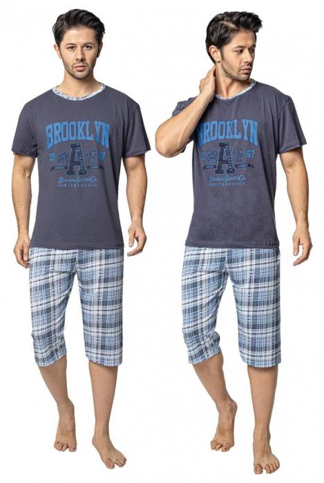 Pijama Barbati Serena, cu Imprimeu Brooklyn [0]