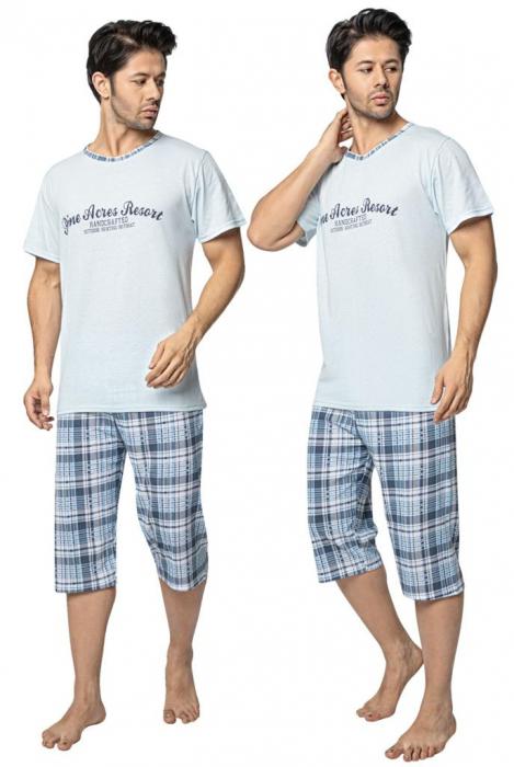 Pijama Barbati Serena, cu Imprimeu Pine Acres Resort [0]