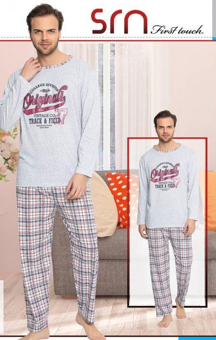 Pijama Barbati Serena, cu Imprimeu Originals [0]