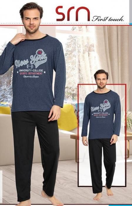 Pijama Barbati Serena, cu Imprimeu New York [0]