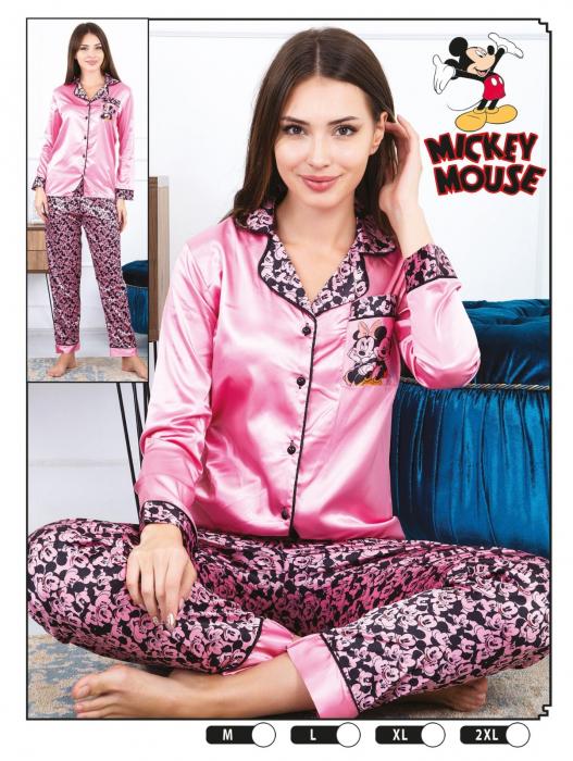 Pijama Dama, Ciclam, Din Satin 0