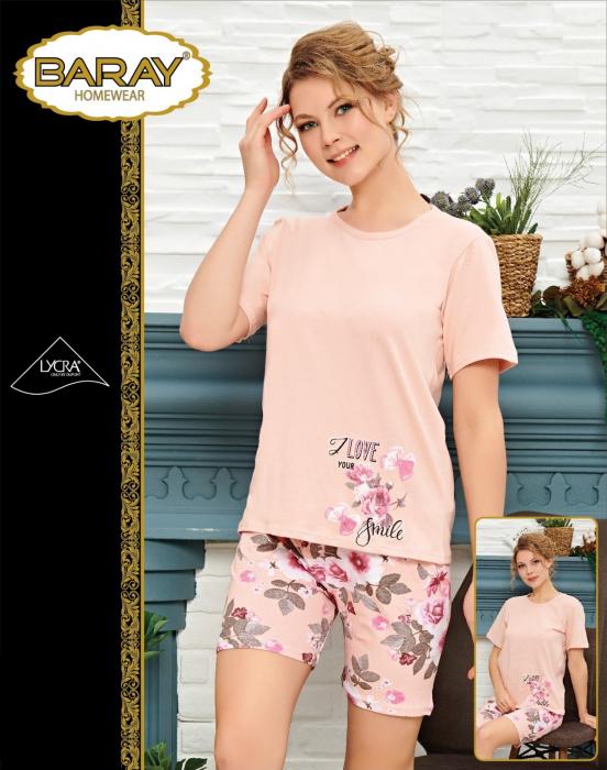 Pijama Dama, Corai, Bumbac cu Lycra 0