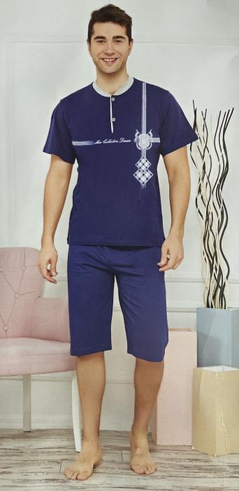 Pijama Barbat, Bleumarin, din Bumbac [0]