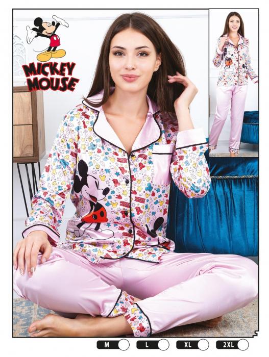Pijama Dama, Roz, Din Satin 0