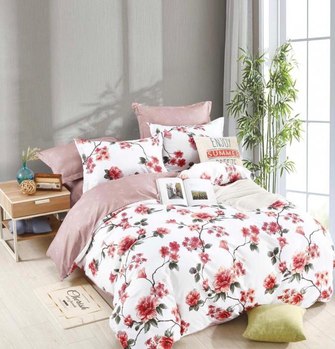 Set Lenjerie + Husa pat, cu Flori [1]