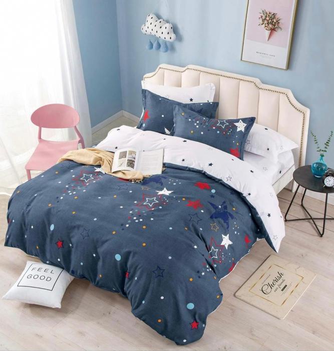 Set Lenjerie + Husa pat, cu Stele [1]