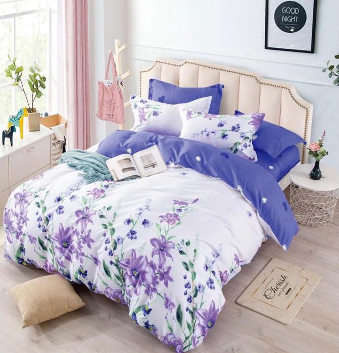 Set Lenjerie + Husa pat, cu Floricele [1]