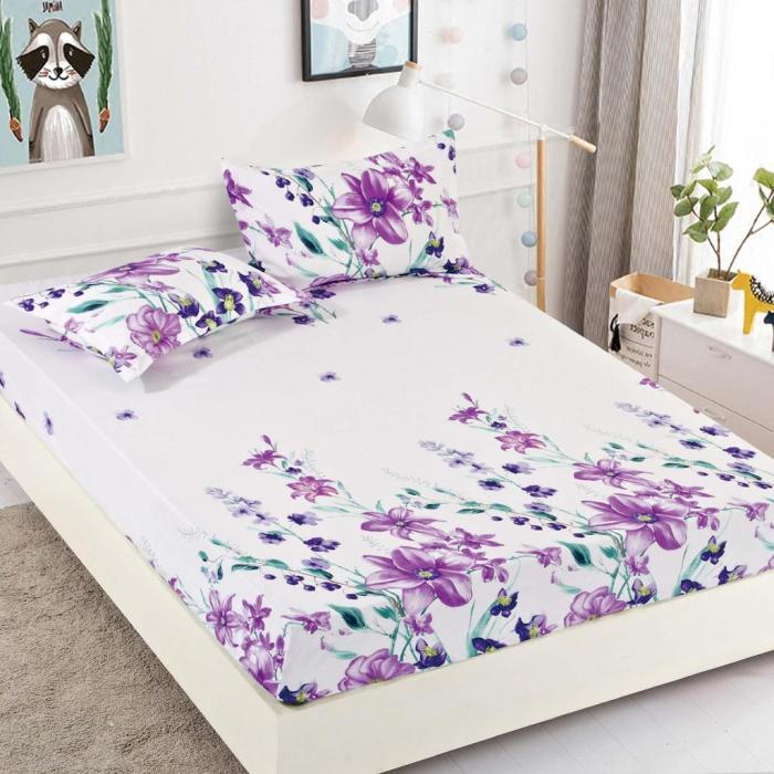 Set Lenjerie + Husa pat, cu Floricele [2]