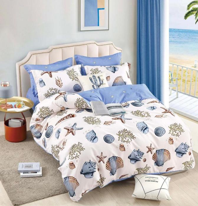 Set Lenjerie + Husa pat, cu Scoici/Stele de Mare [1]