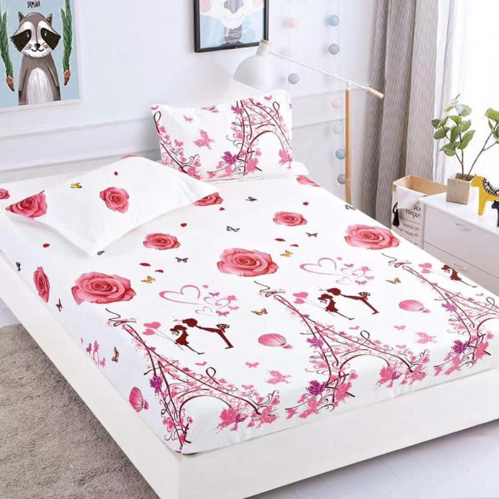 Set Lenjerie + Husa pat, cu Trandafiri/Inimi [2]