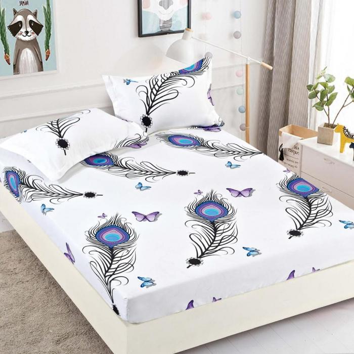 Set Lenjerie + Husa pat,cu Pene/Fluturi [2]