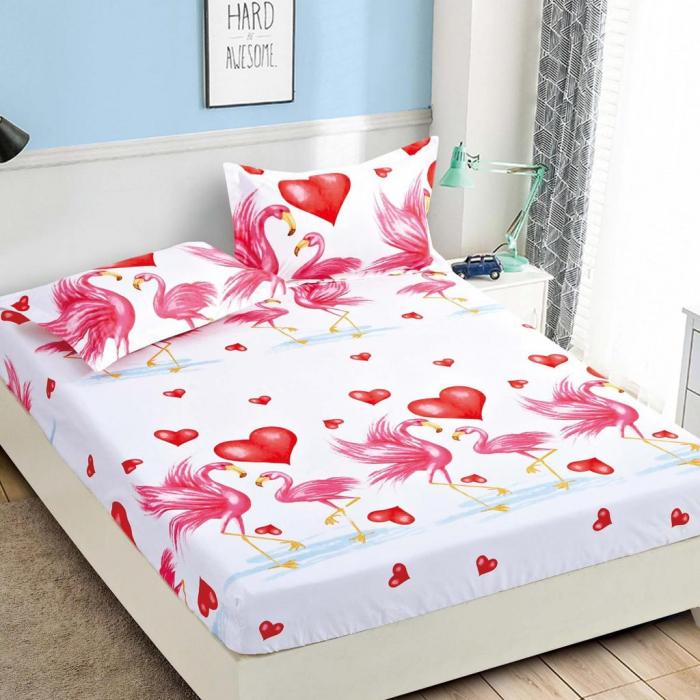 Set Lenjerie + Husa pat, cu Flamingo [2]