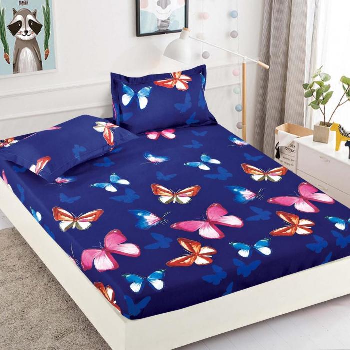 Set Lenjerie + Husa pat, cu Fluturi Colorati [2]