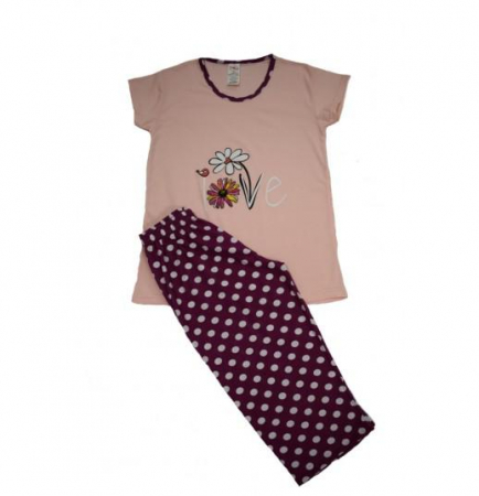 Pijama Dama Serena, cu Imprimeu Love2