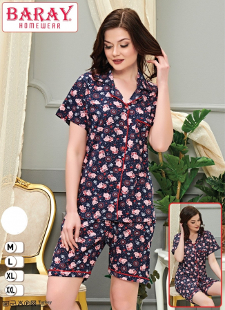 Pijama Dama, cu Pisicute, Din Bumbac