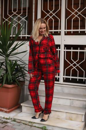 Pijama Dama, Cu Carouri, Din Satin