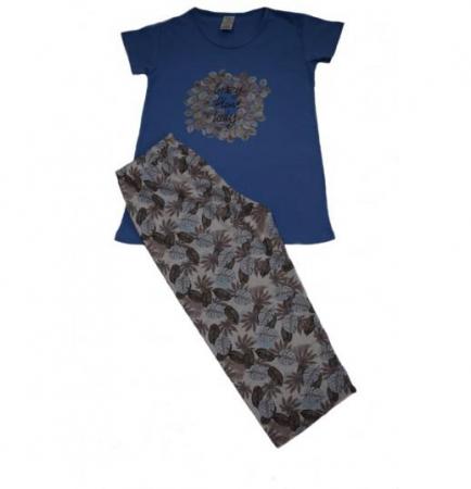 Pijama Dama Serena, cu Imprimeu Crazy Plant Lady [1]