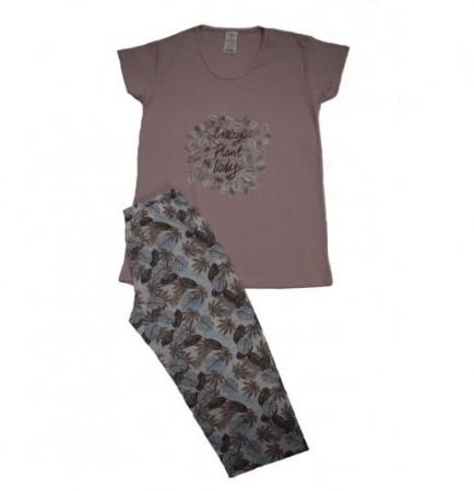 Pijama Dama Serena, cu Imprimeu Crazy Plant Lady [0]