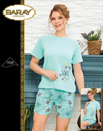 Pijama Dama, Vernil, Din Bumbac cu Lycra
