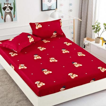 Set Lenjerie + Husa pat, Rosie cu Ursuleti [2]