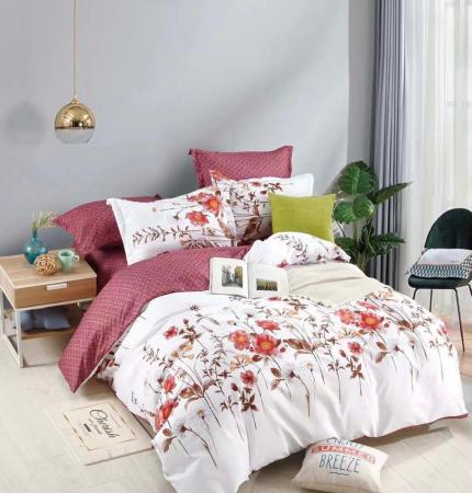 Set Lenjerie + Husa pat,  Alba cu Floricele [1]