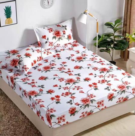 Set Lenjerie + Husa pat, cu Flori [2]