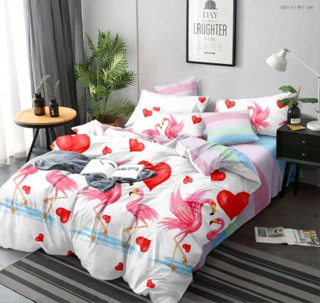 Set Lenjerie + Husa pat, cu Flamingo [1]