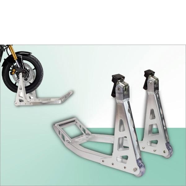 Stand motocicleta din aluminiu pentru roata din fata, 225 Kg 2