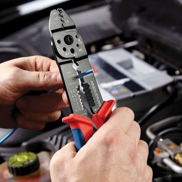 Cleste profesional pentru sertizat Knipex KNI9721215B, 230 mm 5