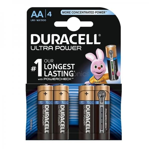 Set baterii AA Duracell DCEL500039400256, 4 bucati, Duralock Ultra power 0